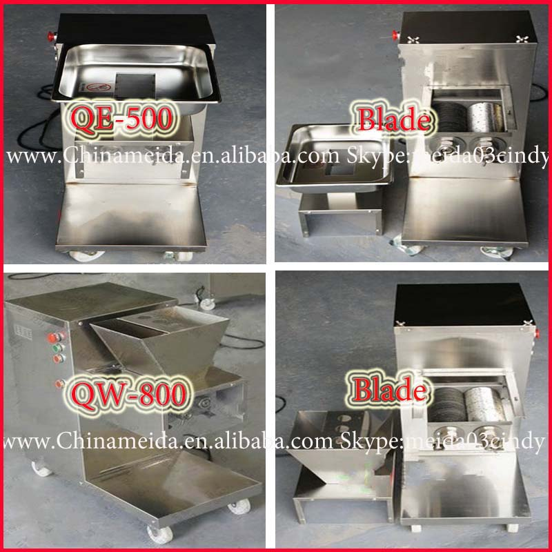 250-1500kg/h Home/Restaurant/Industrial Use Automatic Stainless Steel fresh meat cutter Meat Cutter For Slice,Strip, Diced Shape