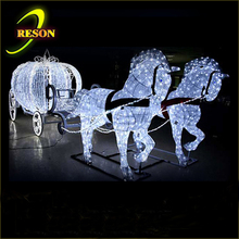 Wedding decoration LED royal horse carriage for marriage decoration