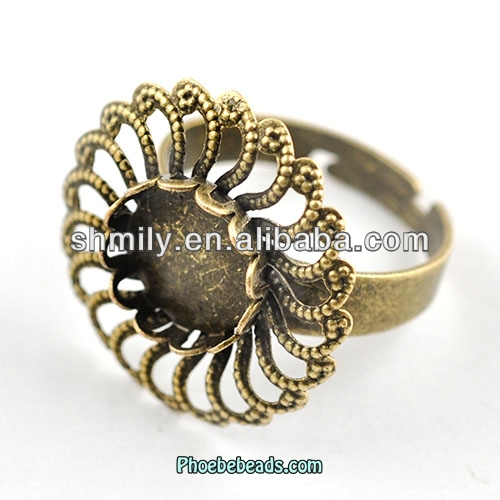 Wholesale Hot Sale Iron And Brass Ring Blanks Jewelry Making Components PB-J120392