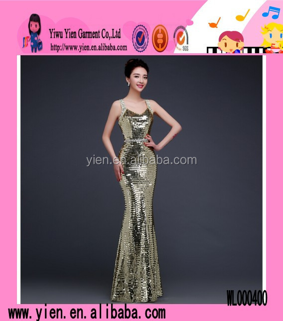 Fashion Hot Silver Sequins Europe Long Style Dress Hot Sale Sexy Mermaid Name Brand Evening Dress