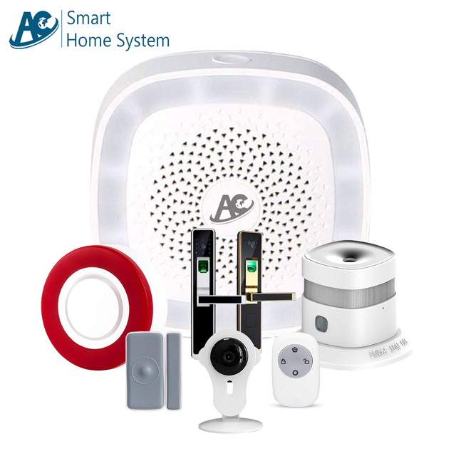 AC brand CE FCC RoHS APP control wifi Zigbee Zwave domotic system home home automation remote control