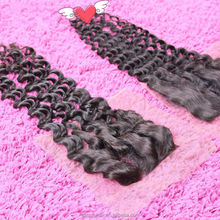 aliexpress hair, peruvian hair extension with lace closure , deep wave hair weave