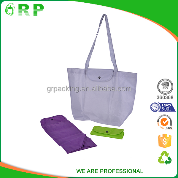 ISO BSCI Multifunctional recycle 420d polyester cute shopping bags