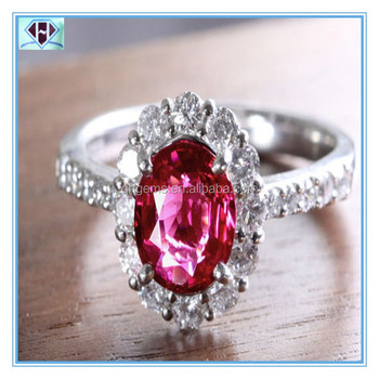 beautiful Oval shaped Rose cubic zirconia ring
