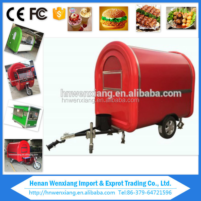 Mobile food kiosk trailer, food truck van ,fast food caravan for sale europe