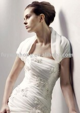 EV90001 white or ivory organza wedding bolero jacket