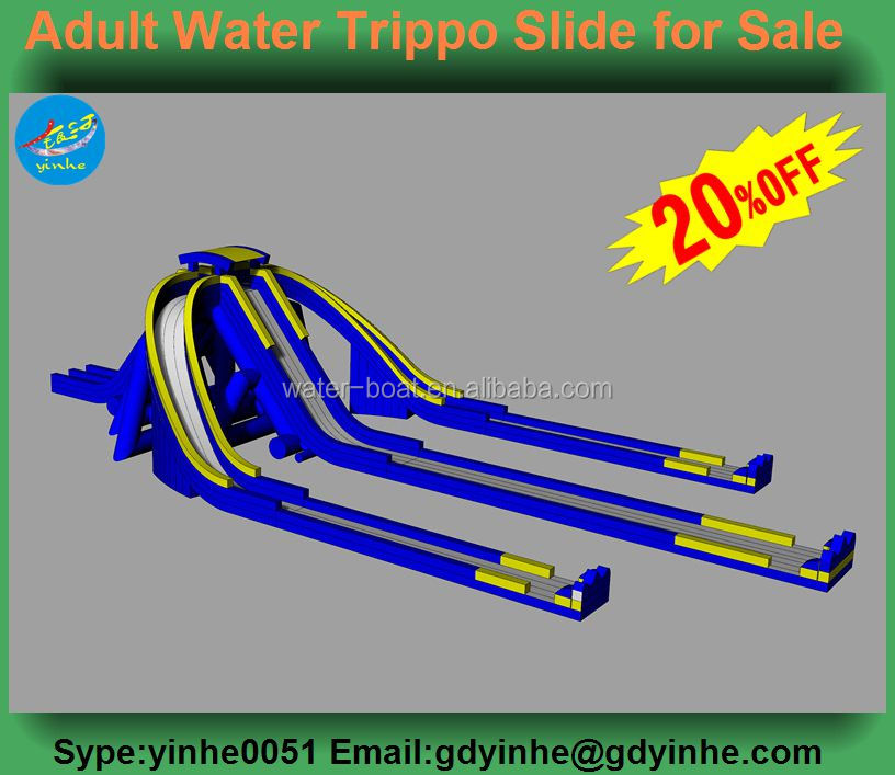 2016 giant inflatable trippo water slide for sale