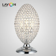 Egg shape design low price E27 crystal table lamp for hotel