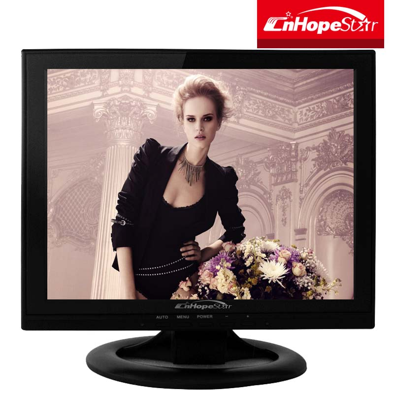Square lcd monitor dc power customized 12v input 15 inch 14 inch lcd monitor