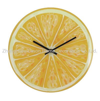 Cason active design glass wall clock
