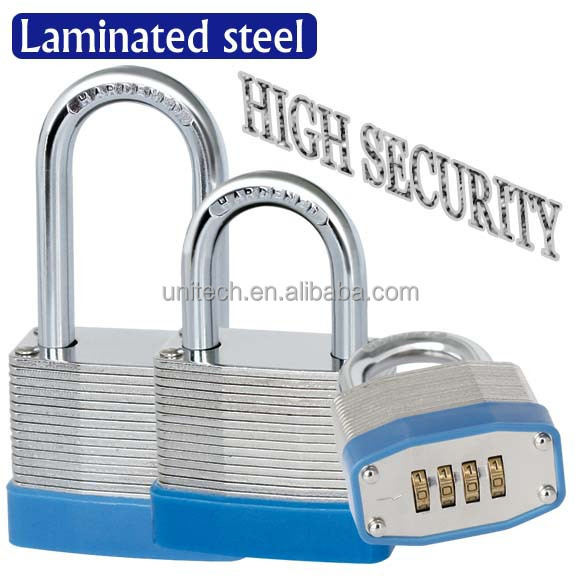 4 Dial Bottom Resettable Combination Padlock Brass