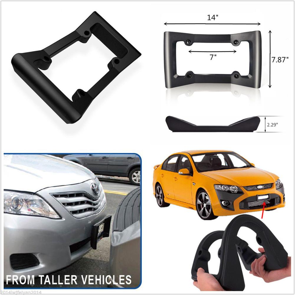 <strong>A001</strong> Car Front Bumper Guard Rubber Anti-Collision License Plate Frame Protector Cover