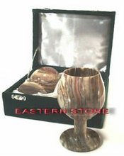 ONYX, MARBLE, FOSSIL STONE HANDICRAFTS, VASE, CHESS SET, BOWL, CUP, GOBLETS, GLASS