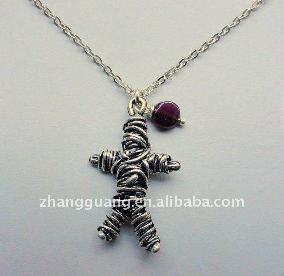 Voodoo doll necklace. Halloween jewelry ON SALE