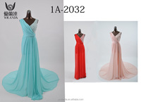 Best Price For Evening Dress Vneck Floor Length Side Beads Ornaments Sexy Actual Images of Evening Gowns