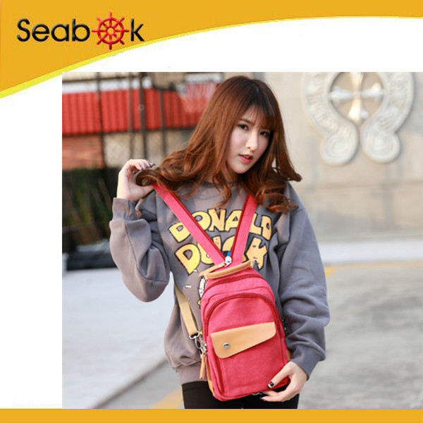 China wholesale college shoulder bagpack canvas chest sling bags for Women