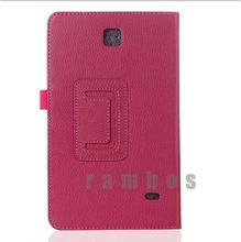 Folding Flip Tablet PC Leather Pouch Case Smart Book Cover Stand for Samsung Galaxy Tab 4 7.0 T230