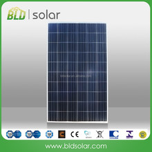 BLD SOLAR China Pv Manufacturer high quality solar panel 250w, poly solar modules with CE, CEC, TUV, UL, IEC, ISO certificates