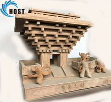special Chinese modern ceramic building model,architecture artwork,Oriental crown