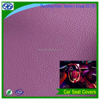 Rexine car seat covers with artificial leather material knitted backing wholesale