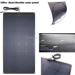 transparent thin film solar panel 100w 18v for cars boats