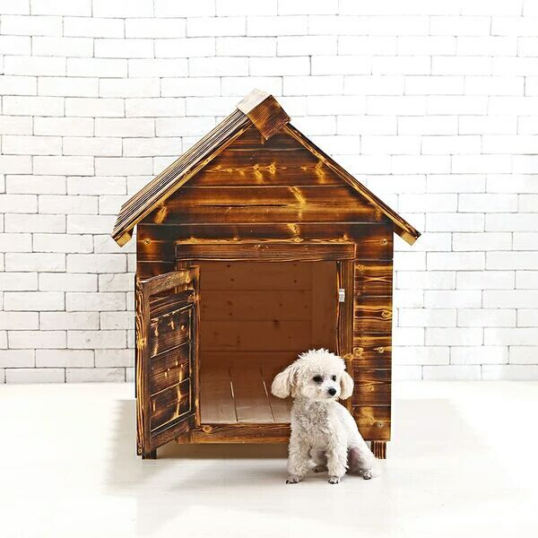 Carbonized Wooden Kennel
