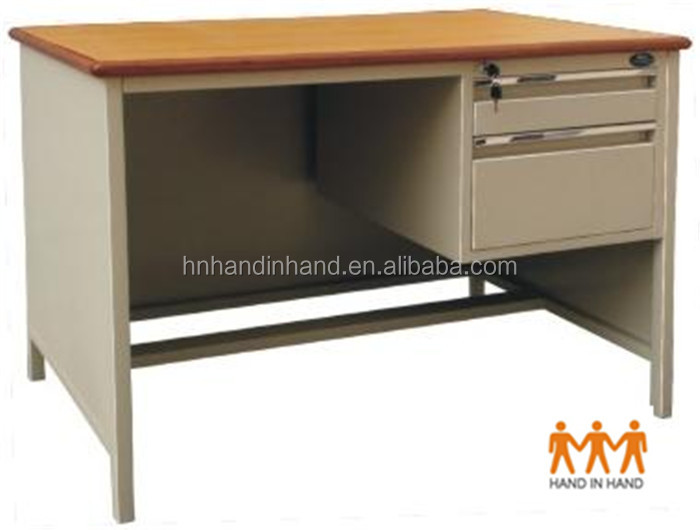 HAND IN HAND cheap office desk student desk OD-H1 office desk with wooden top ,two draws,standing foots