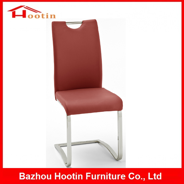Modern Comfortable S Shape Faux Leather Red PU Seat Back Metal Tube Chromd Legs Black and White Barber Salon Furniture