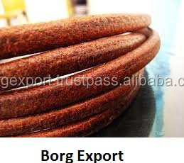 5mm Round Leather Cords From BORG EXPORT / 5mm Round Leather Cords