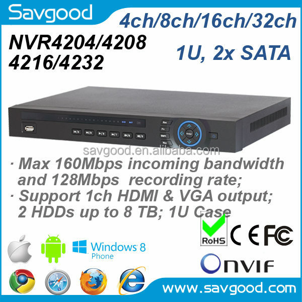 NVR4208 Economic 8ch Onvif Dahua NVR up to 5 Megapixel input with 160Mbps incoming bandwidth