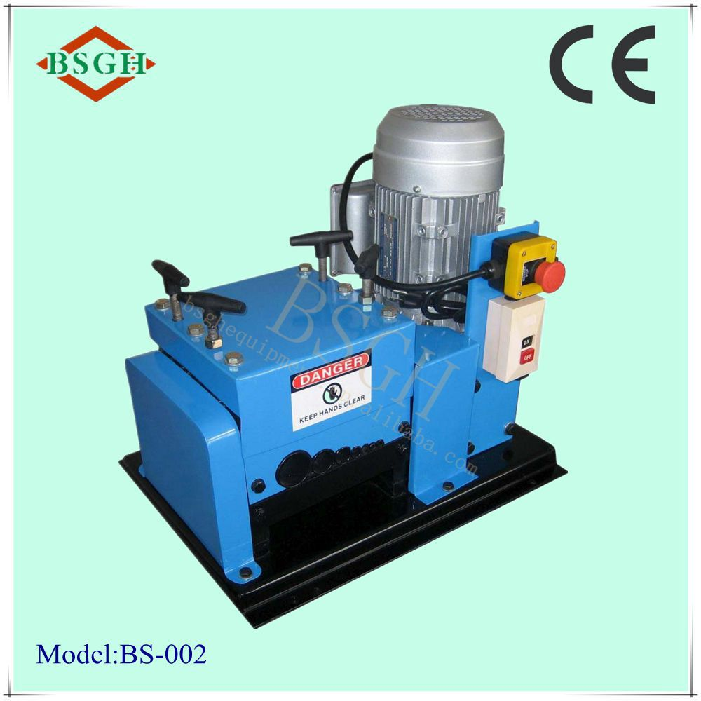 2017 BSGH Hot selling cord cutting wire striping machine with low price for india