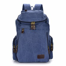 fashionable 100 cotton canvas tote bag leather handle backpack canvas shoulder bag