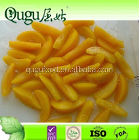 peach type canned yellow peach sliced in light/high syrup 820g