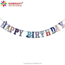 Fun and Colorful Happy Birthday Bunting Banner Flags with Letters Kids Party Supplies