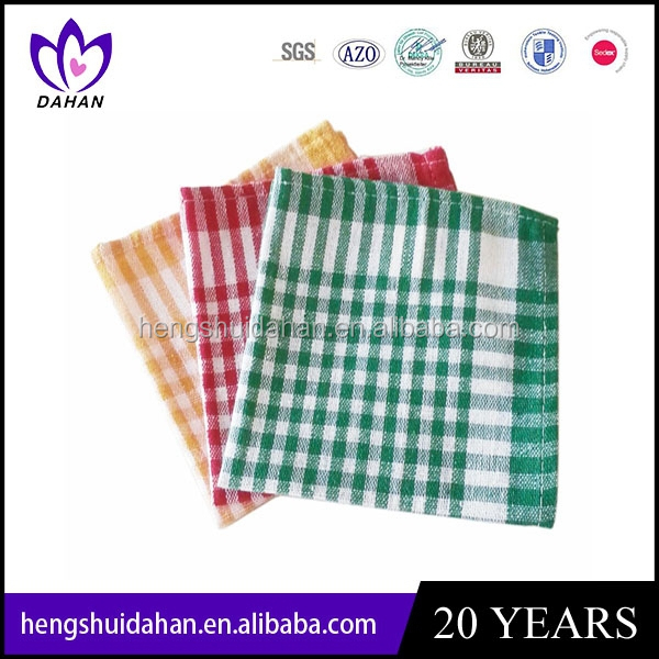 cheap 100%cotton waffle weave gird dish cloth wholesaler manufacturer