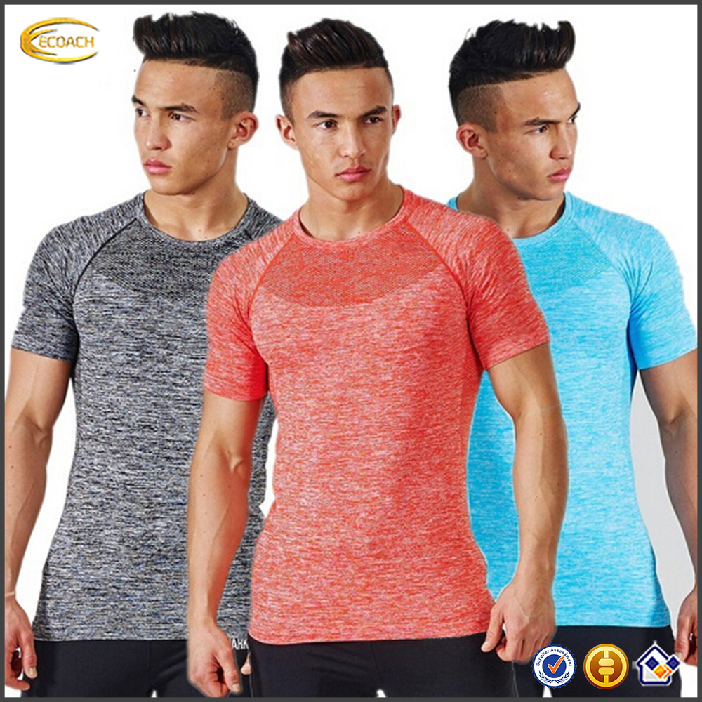 Ecoach fitness apparel sports fitness t shirt gym clothing private label fitness workout wholesale men gym wear