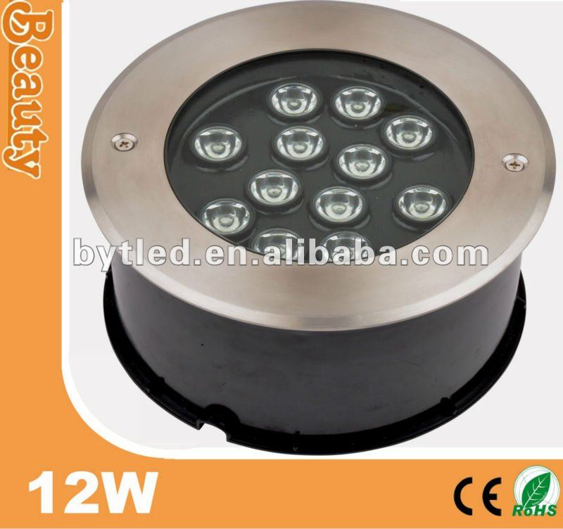 landscaping IP65 LED inground light 12w in concrete (CE/EMC/LVD)