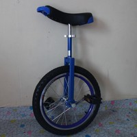 Motorcycle 18 inch monocycle with one wheel Single wheel bicycle Blue color Double Alloy rim CE/ASTM F963-11