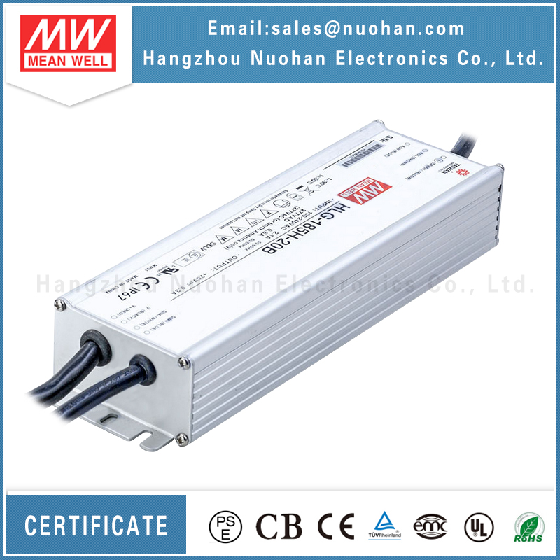 Mean well 185w hlg-185h series constant voltage pwm dimmable led driver