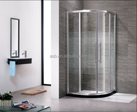 6mm glass 100x100cm frame strong shower enclosures for malaysia