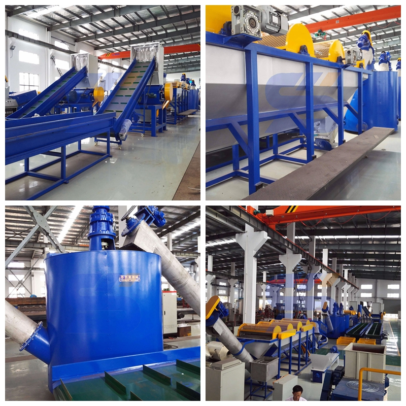 PET drinking bottle recycling machine/crushing washing drying line
