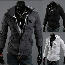 cheap Men's slim jacket with hat wholesales