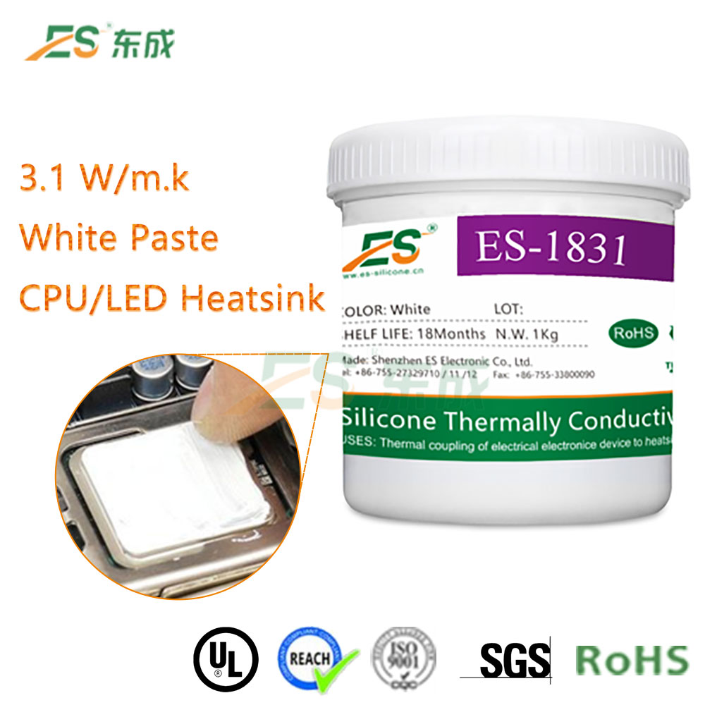 High conductivity white thermal silicone grease/compound for LED light