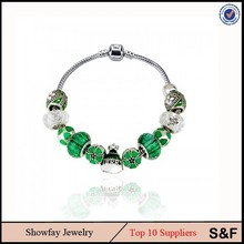 Green Color Fashion Charm Bead Bracelet Anchor Nautical Rope Bracelet