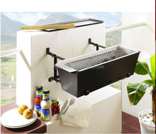 balcony steel grill designs/balcony hanging bbq grill
