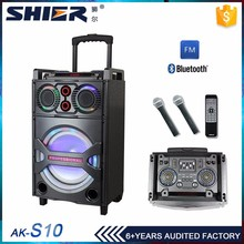 Self Powered portable Trolley dj speaker with LED light