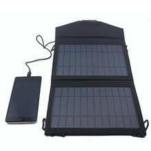 Wholesale Price Foldable Solar Charger 5V 7W Outdoors Solar Phone Charger for iPhone