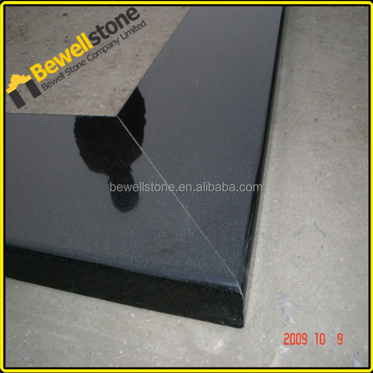 Entrance floor nero assoluto flamed granite, custome made shanxi black decor striking