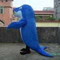 HOLA whale mascot costume for sale
