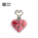 wholesale custom glitter acrylic heart shape keychain personalized plastic keychain clear blank keyring